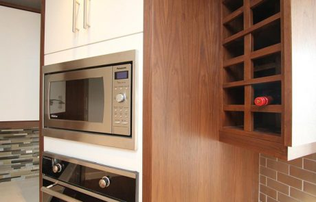 cabinet for microwave