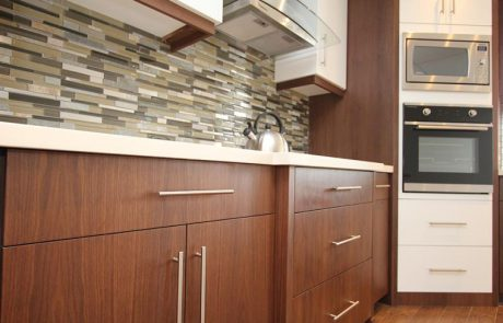 wood cabinets